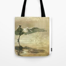 Spoonbill morning Tote Bag