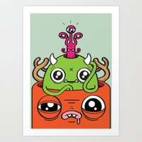 Monster Mind Art Print