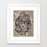 Framed Art Print featuring Protecting The Delicate … by Busymockingbird