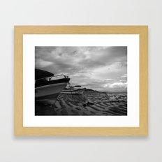 Heaps Beached Framed Art Print