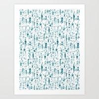 Crowd Pattern Art Print