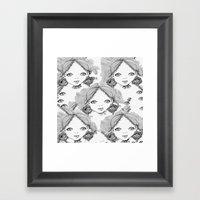 Eyes Framed Art Print