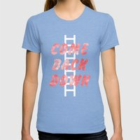 Come Back Down. Womens Fitted Tee Tri-Blue SMALL