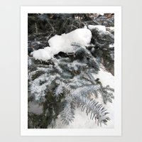 Hello Snow Art Print