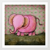 Joe The Elephant Art Print