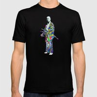 Colorful Samurai Mens Fitted Tee Black SMALL