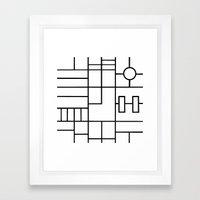 PS Grid Framed Art Print