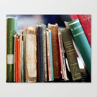 Books from Amsterdam Canvas Print