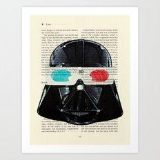 Star Wars Darth Vader Movie 3d Glasses Art Print