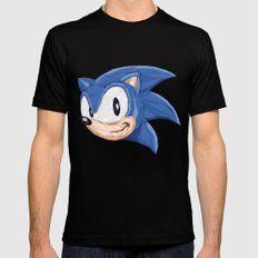 Triangles Video Games Heroes - Sonic Black SMALL Mens Fitted Tee