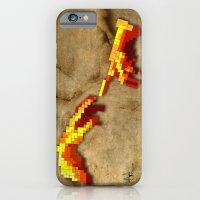 iPhone & iPod Case featuring Michelangelo hands. Pixelation by Villaraco