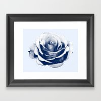 HALFTONE ROSE Framed Art Print