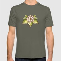 White flowers Mens Fitted Tee Lieutenant SMALL