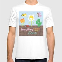 Everything Grows With Lo… Mens Fitted Tee White SMALL
