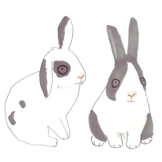 Rabbits and bunnies Art Print