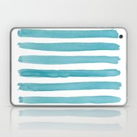 Watercolor Juicy Strokes: Teal Laptop & iPad Skin