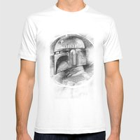 Boba Fett Mens Fitted Tee White SMALL