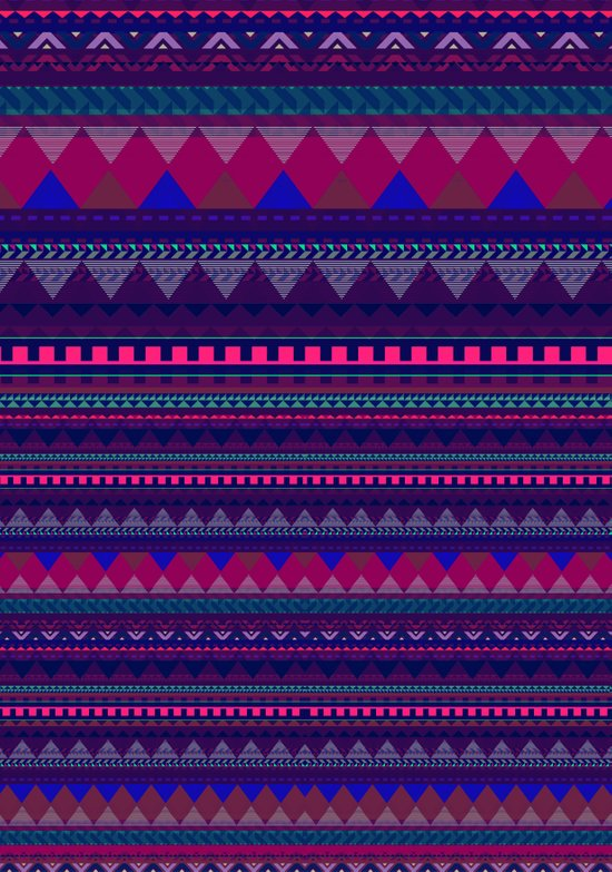 KNITTED AZTEC PATTERN  Art Print