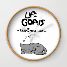 Life Goals Wall Clock