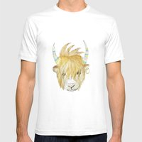 Yakety Yak Striped Illus… Mens Fitted Tee White SMALL