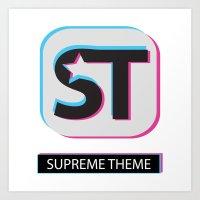 Supreme WordPress Theme Art Print