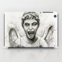Weeping Angel Watercolor iPad Case