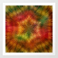 Psychedelic time warp Art Print