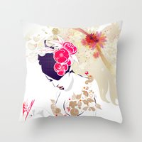 Madame Butterfly Throw Pillow