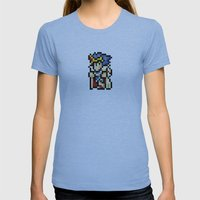Final Fantasy II - Paladin Cecil Womens Fitted Tee Athletic Blue SMALL