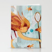 Into The Fishpond Stationery Cards