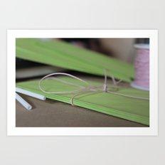 Green Envelopes Art Print