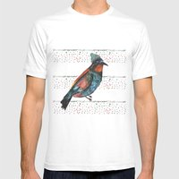 Birds and hats! Mens Fitted Tee White SMALL
