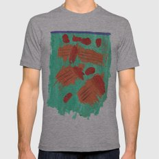 Traces on a grass... Mens Fitted Tee Athletic Grey SMALL
