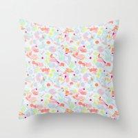 sorbet marble Throw Pillow
