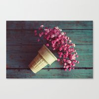 Flower Cone I Canvas Print