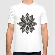FLWR2 White SMALL Mens Fitted Tee