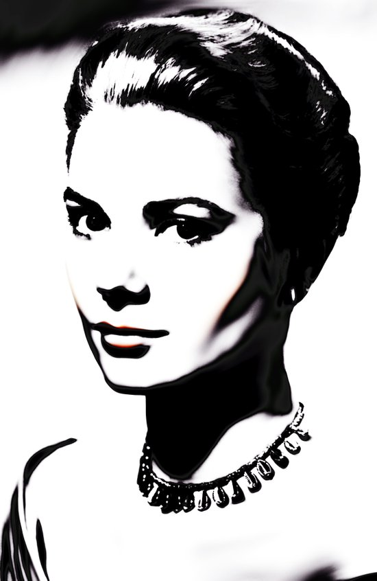 PRINCESS GRACE KELLY Art Print