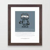 Ze Robot, Cool :) Framed Art Print