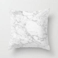 Marble white and grey Throw Pillow