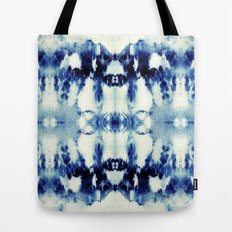Tie Dye Blues Tote Bag