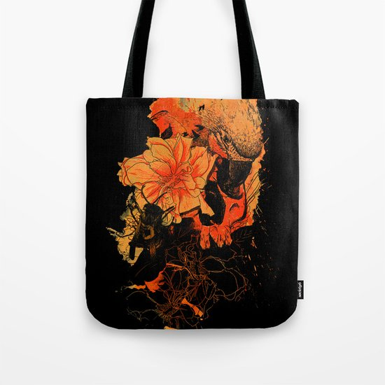 Pollination Dark Fire Tote Bag