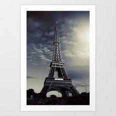 Dark Eiffel Art Print