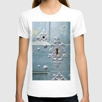 Old lock Womens Fitted Tee White SMALL