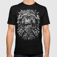 Aztec Skull Mens Fitted Tee Tri-Black SMALL