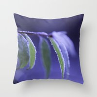 blue frost Throw Pillow