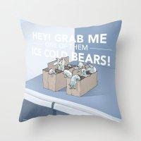Ice Cold Bears Throw Pillow