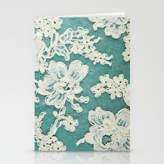white lace - photo of vintage white lace Stationery Card