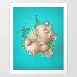 Art Print - VANILLA BEAN (everyday 08.28.16) - beeple