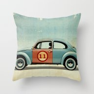 Number 11 - VW Beetle Throw Pillow