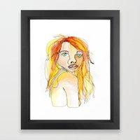I hate my face. Framed Art Print